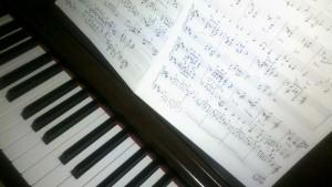 Piano mit Noten